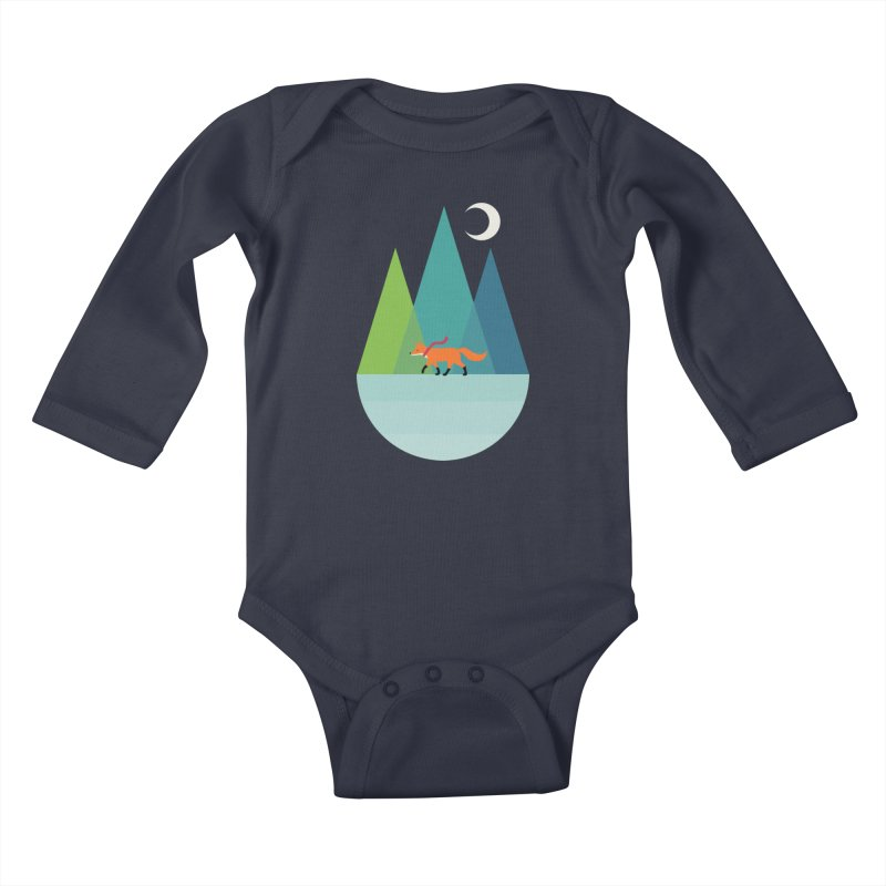 Walk Alone Kids Baby Longsleeve Bodysuit by andywestface's Artist Shop