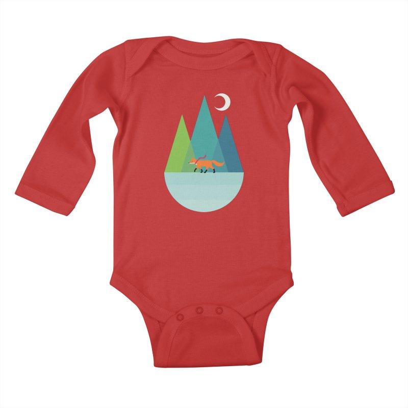 Walk Alone Kids Baby Longsleeve Bodysuit by andywestface's Artist Shop