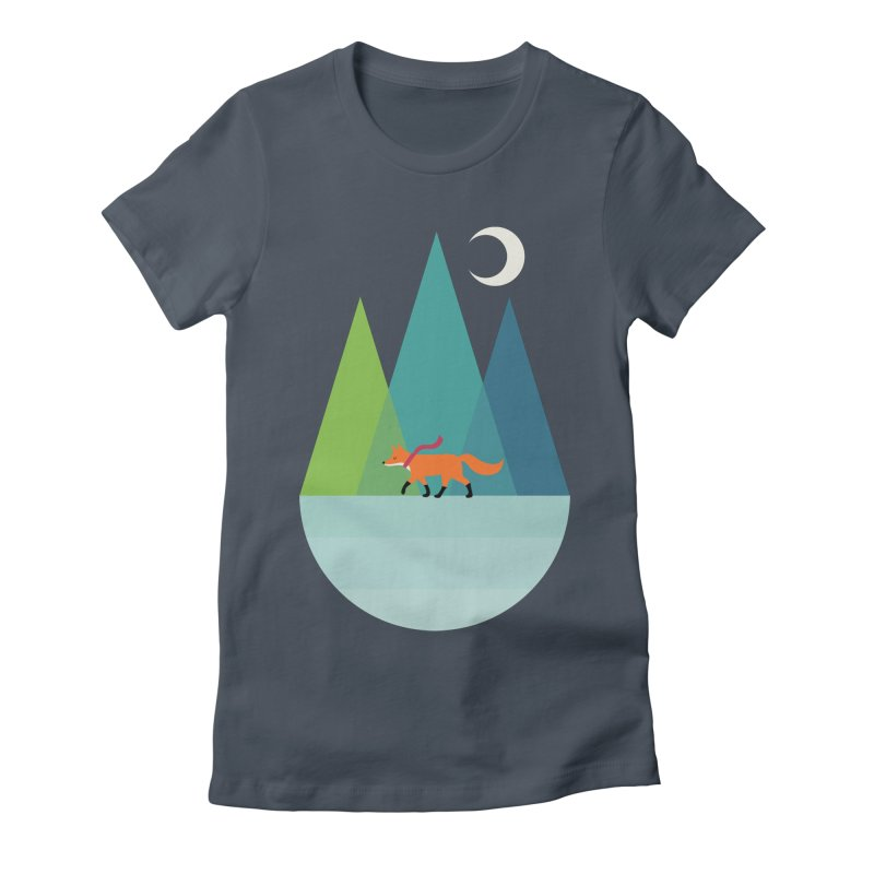 Walk Alone Women's Fitted T-Shirt by andywestface's Artist Shop