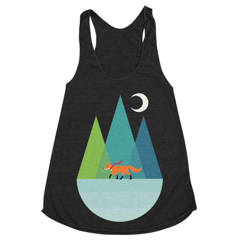 Walk Alone Women's Racerback Triblend Tank by andywestface's Artist Shop
