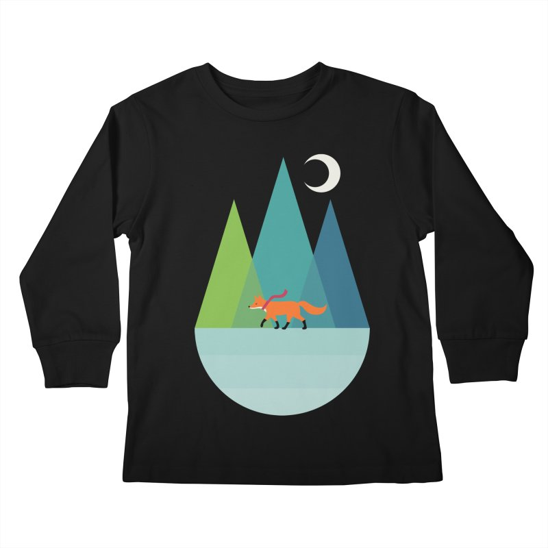 Walk Alone Kids Longsleeve T-Shirt by andywestface's Artist Shop