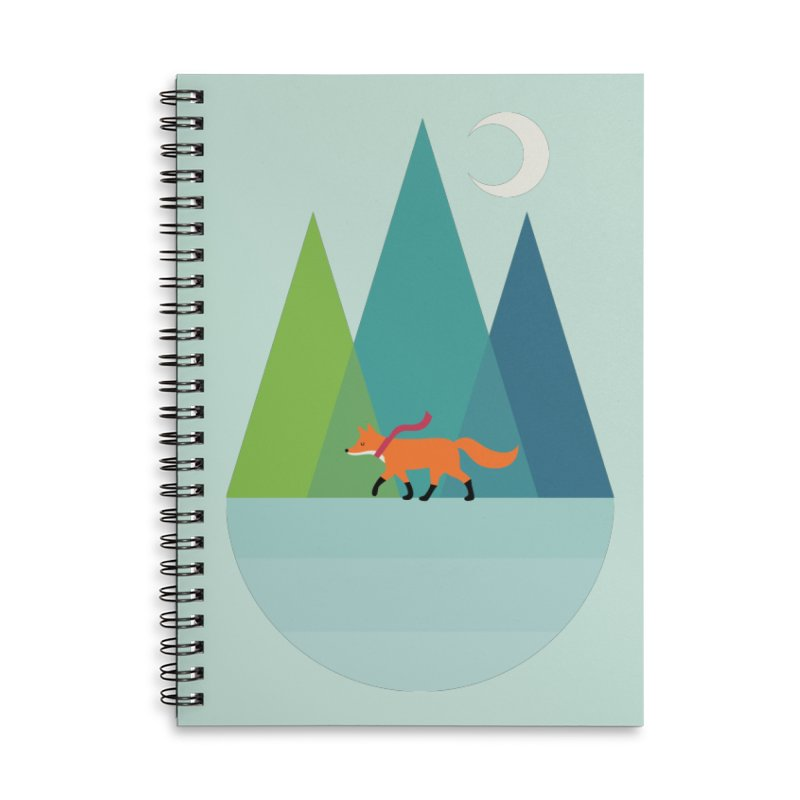 Walk Alone Accessories Lined Spiral Notebook by andywestface's Artist Shop