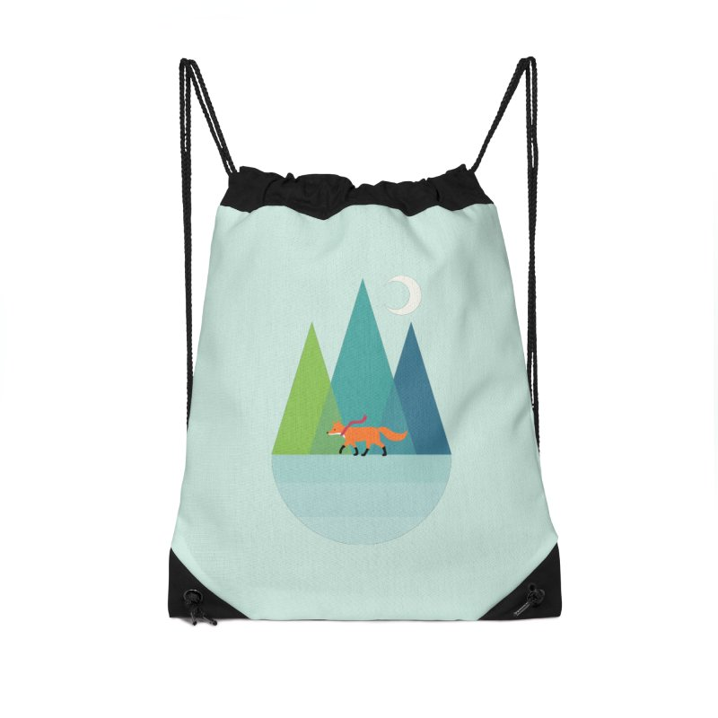 Walk Alone Accessories Drawstring Bag Bag by andywestface's Artist Shop