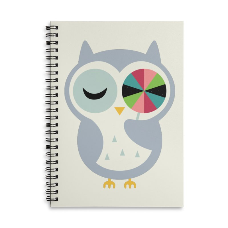 Sweet Holiday Wishes Accessories Lined Spiral Notebook by andywestface's Artist Shop