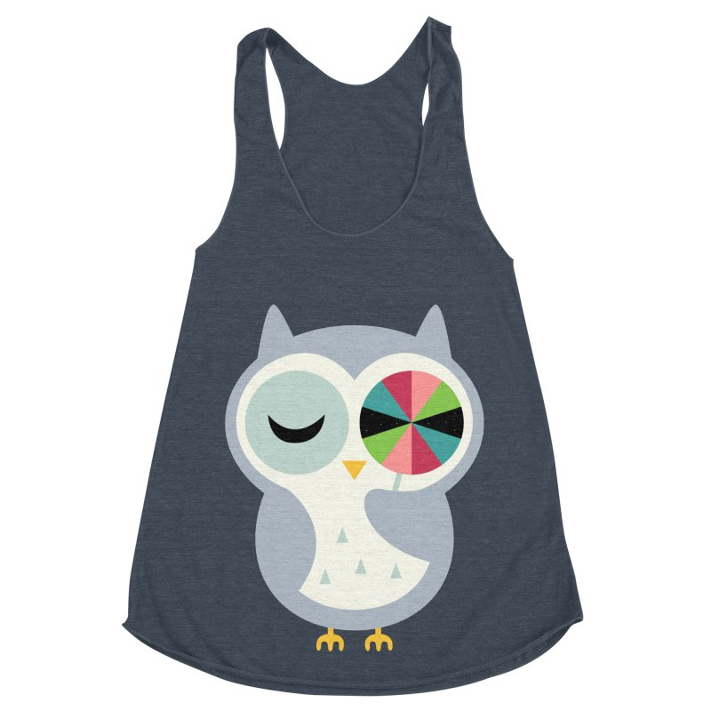 Sweet Holiday Wishes Women's Racerback Triblend Tank by andywestface's Artist Shop