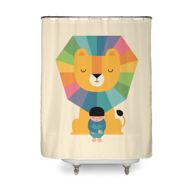 Courage Home Shower Curtain by andywestface's Artist Shop