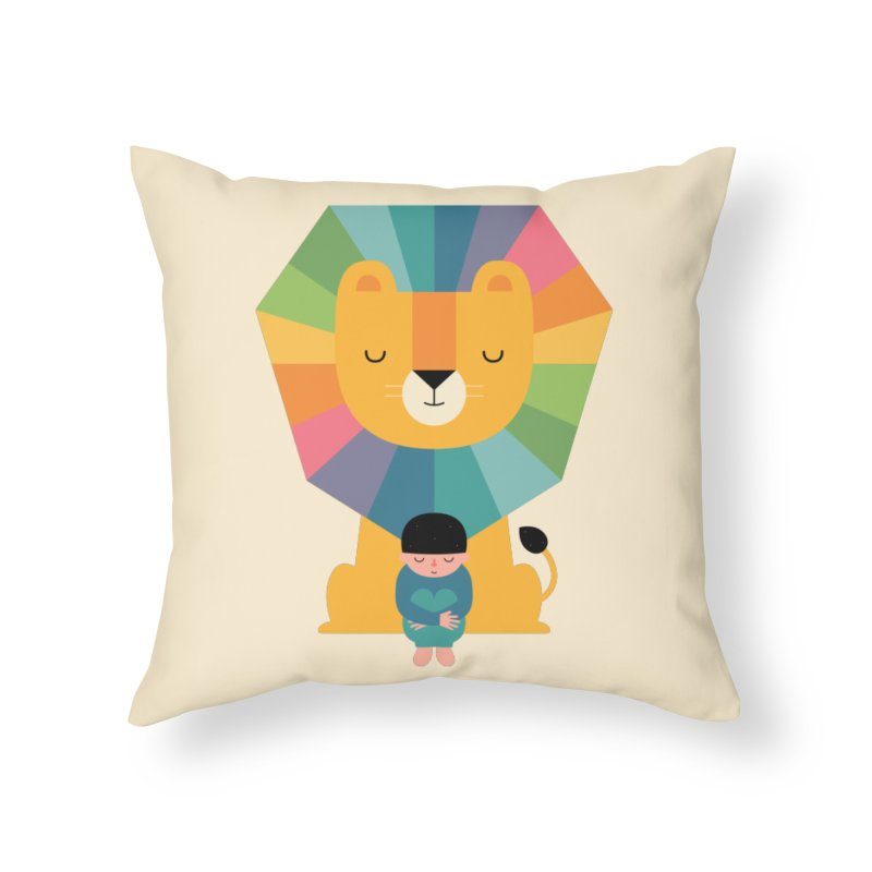 Courage Home Throw Pillow by andywestface's Artist Shop
