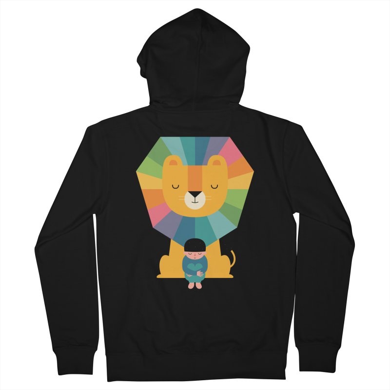 Courage Men's French Terry Zip-Up Hoody by andywestface's Artist Shop