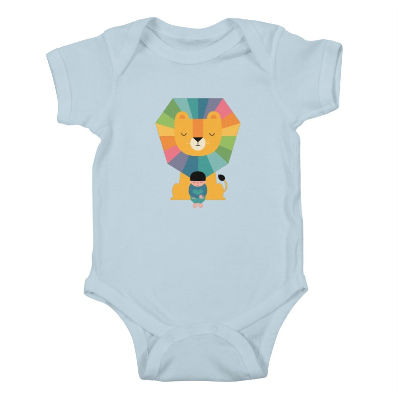 Courage Kids Baby Bodysuit by andywestface's Artist Shop