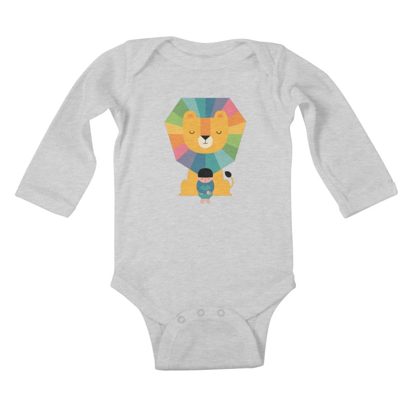 Courage Kids Baby Longsleeve Bodysuit by andywestface's Artist Shop