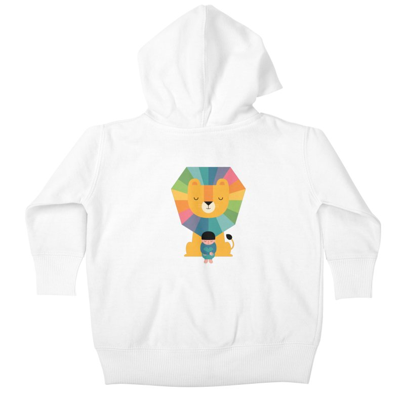 Courage Kids Baby Zip-Up Hoody by andywestface's Artist Shop