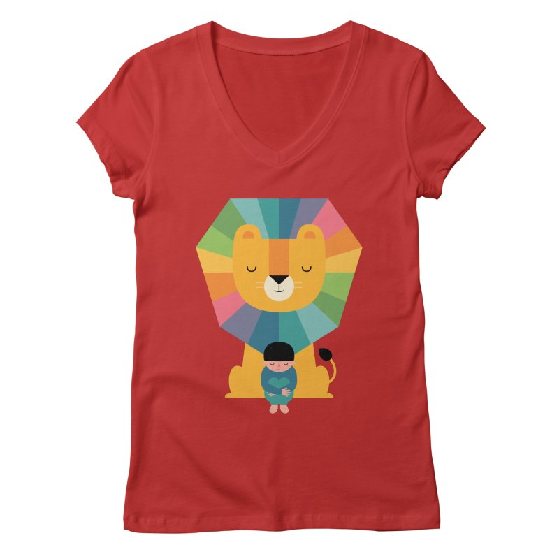 Courage Women's Regular V-Neck by andywestface's Artist Shop