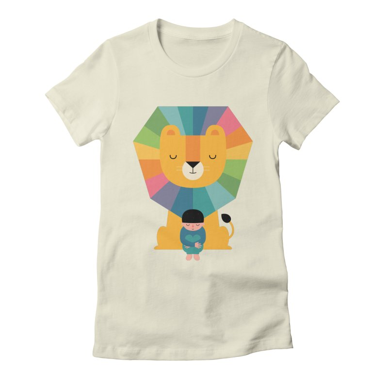 Courage Women's Fitted T-Shirt by andywestface's Artist Shop
