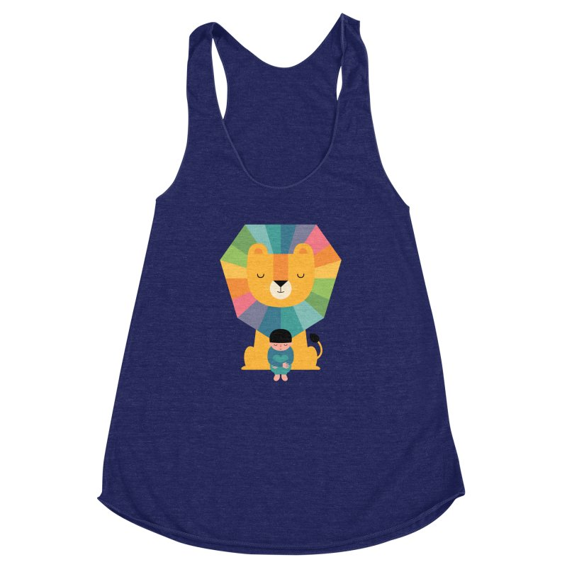 Courage Women's Racerback Triblend Tank by andywestface's Artist Shop
