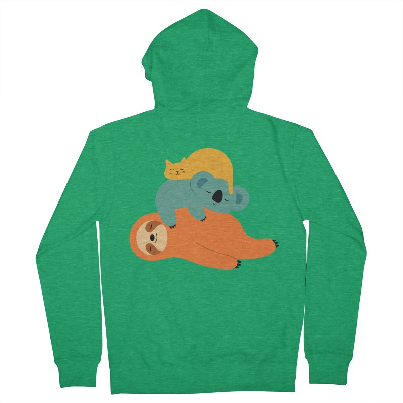 Being Lazy Men's Zip-Up Hoody by andywestface's Artist Shop