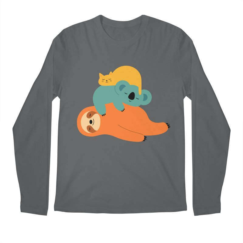 Being Lazy Men's Longsleeve T-Shirt by andywestface's Artist Shop