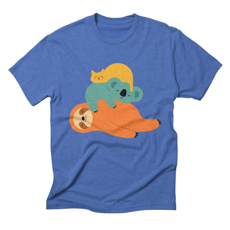 Being Lazy Men's Triblend T-shirt by andywestface's Artist Shop