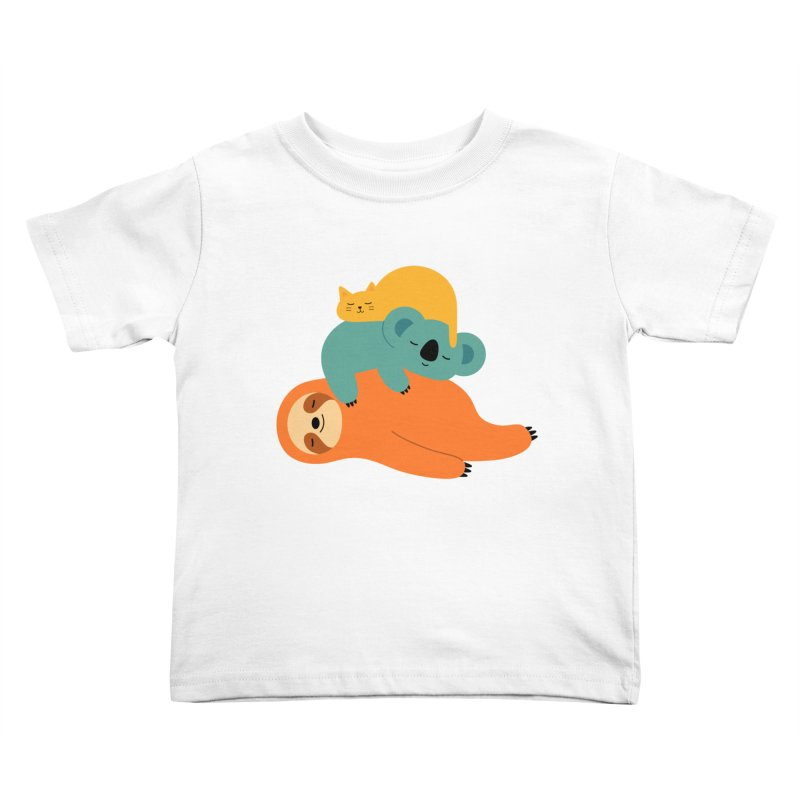 Being Lazy Kids Toddler T-Shirt by andywestface's Artist Shop