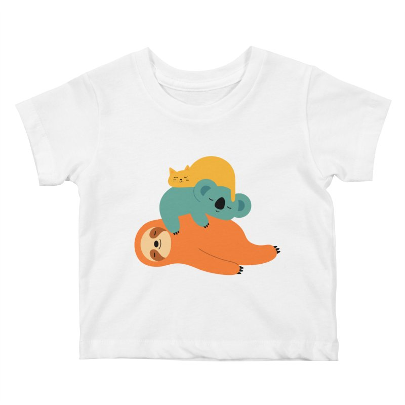 Being Lazy Kids Baby T-Shirt by andywestface's Artist Shop
