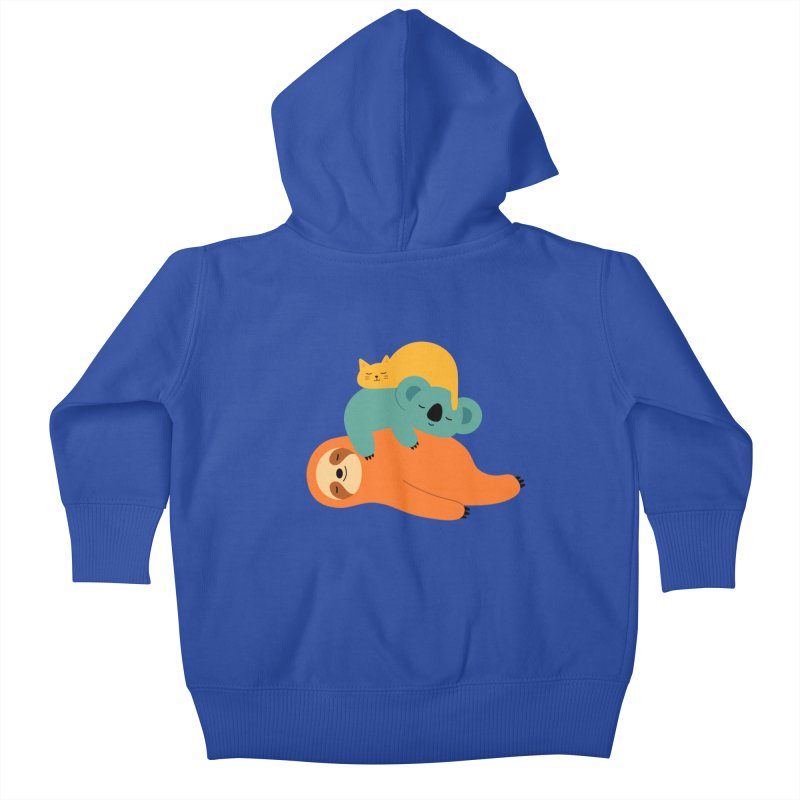 Being Lazy Kids Baby Zip-Up Hoody by andywestface's Artist Shop