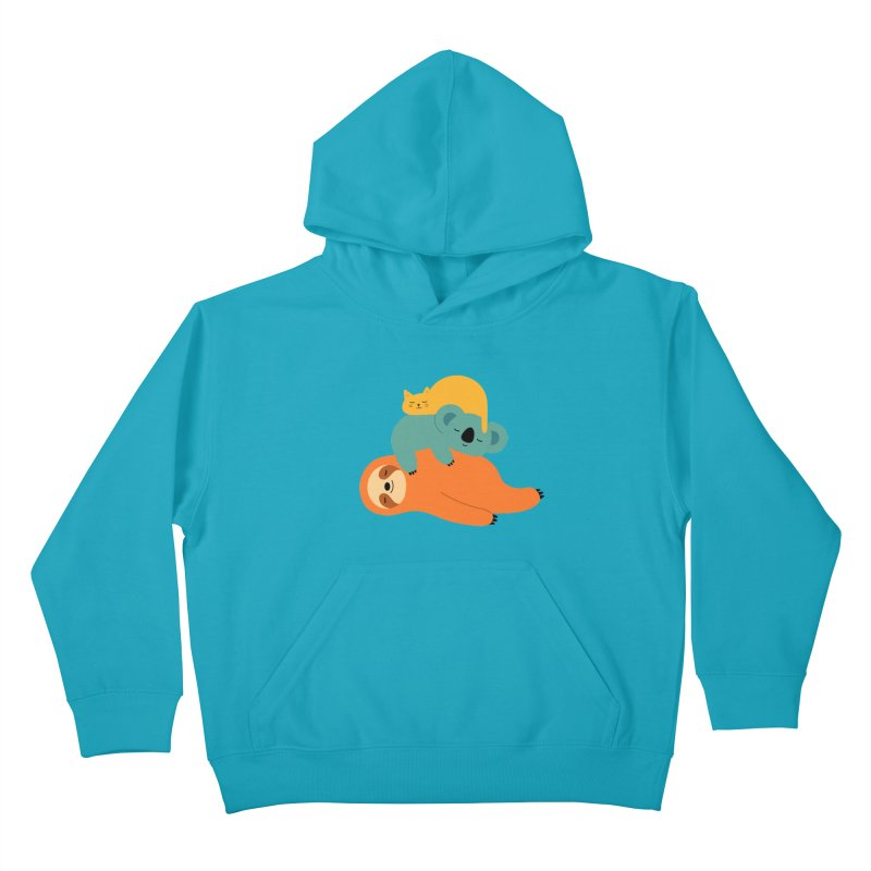 Being Lazy Kids Pullover Hoody by andywestface's Artist Shop