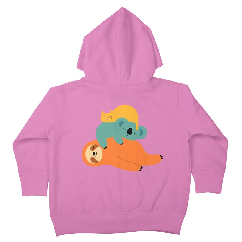Being Lazy Kids Toddler Zip-Up Hoody by andywestface's Artist Shop