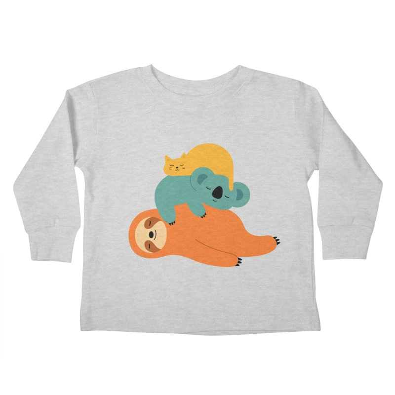 Being Lazy Kids Toddler Longsleeve T-Shirt by andywestface's Artist Shop