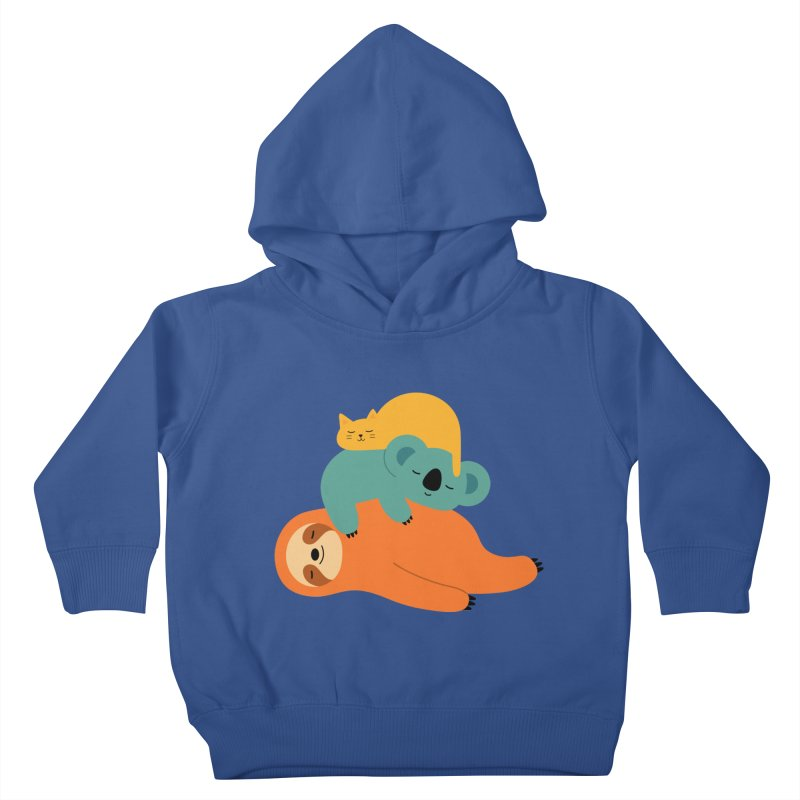 Being Lazy Kids Toddler Pullover Hoody by andywestface's Artist Shop