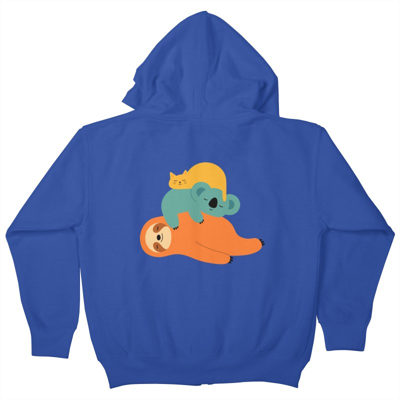 Being Lazy Kids Zip-Up Hoody by andywestface's Artist Shop