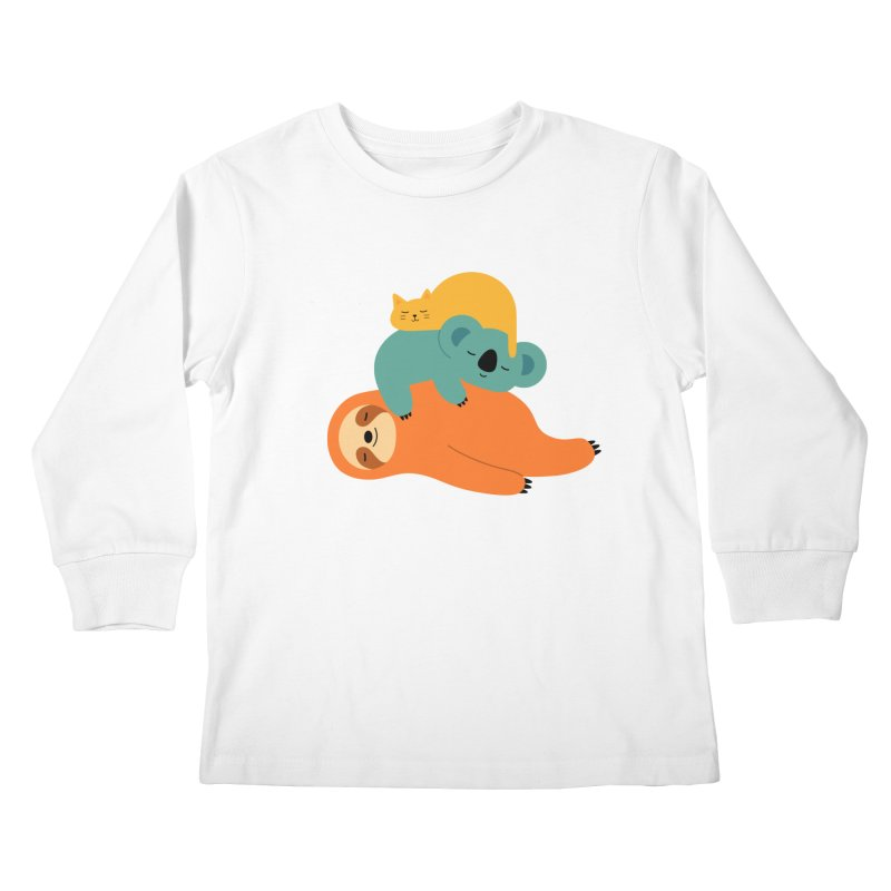 Being Lazy Kids Longsleeve T-Shirt by andywestface's Artist Shop