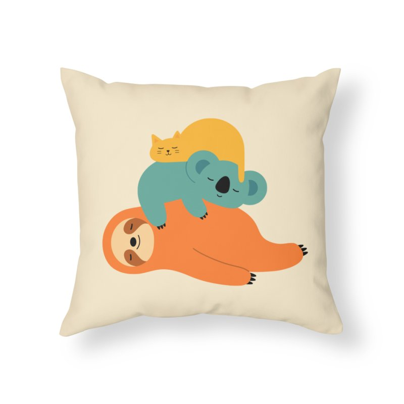 Being Lazy Home Throw Pillow by andywestface's Artist Shop