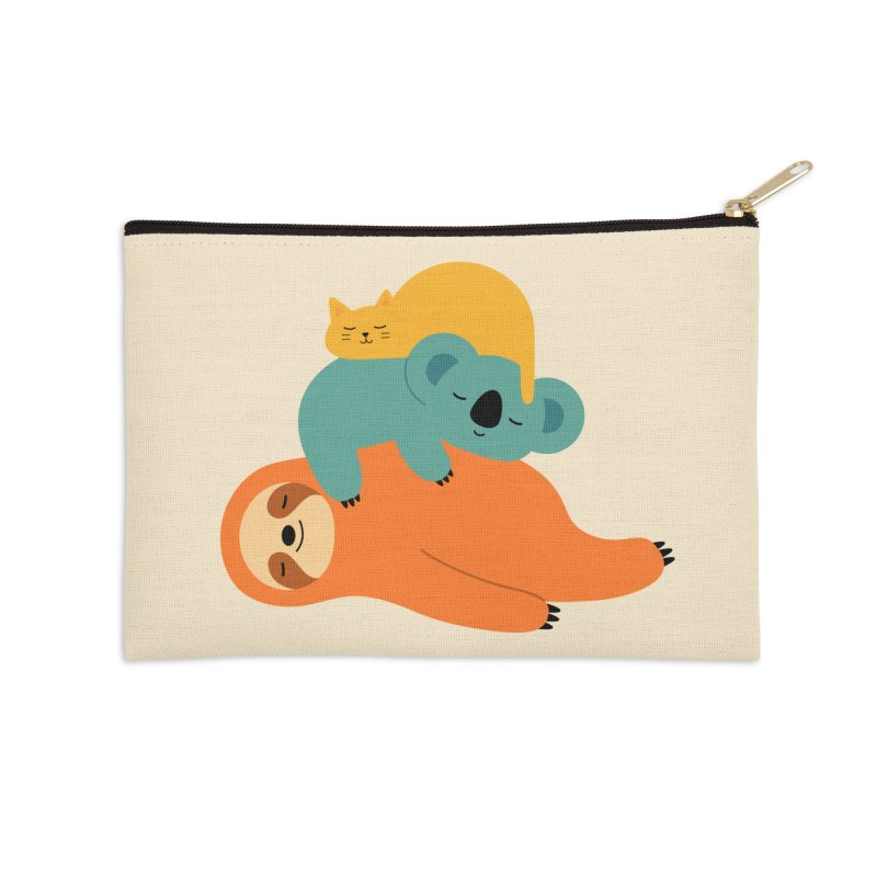 Being Lazy Accessories Zip Pouch by andywestface's Artist Shop
