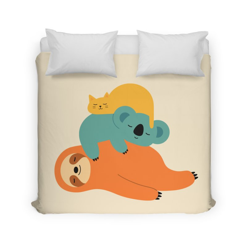 Being Lazy Home Duvet by andywestface's Artist Shop