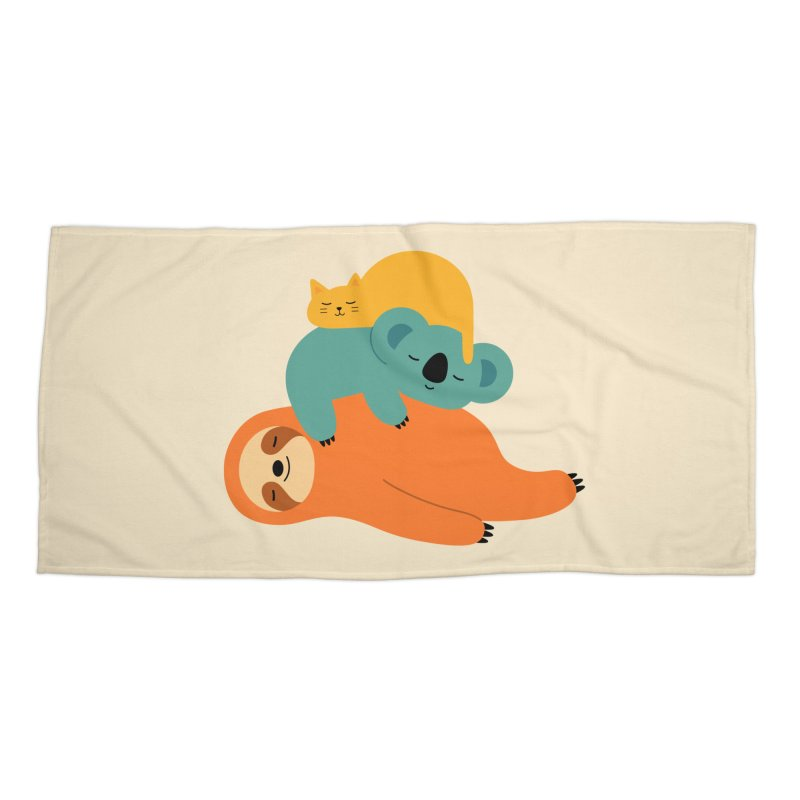 Being Lazy Accessories Beach Towel by andywestface's Artist Shop