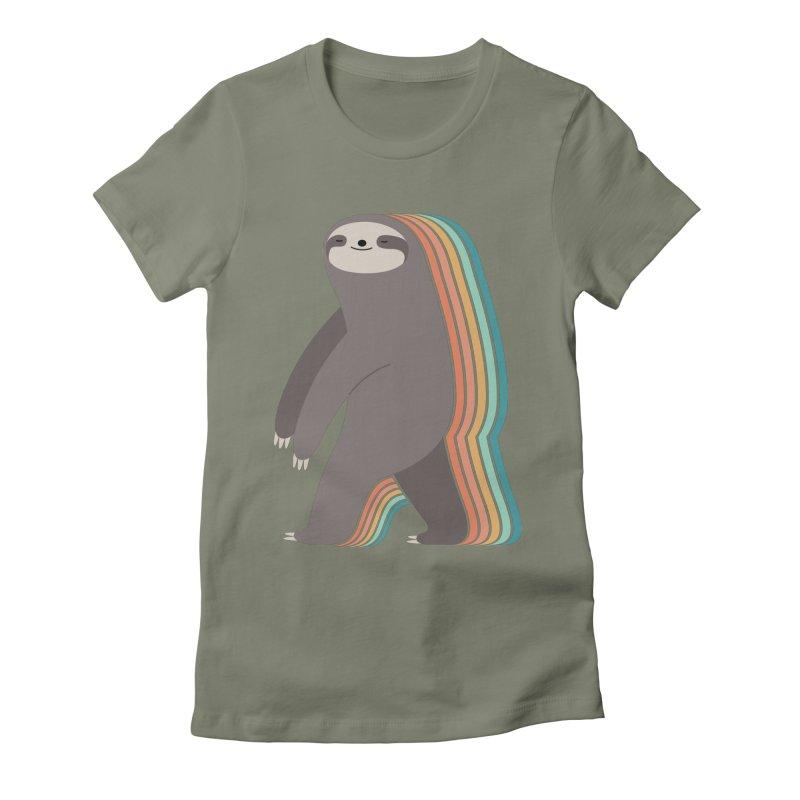Sleepwalker Women's Fitted T-Shirt by andywestface's Artist Shop