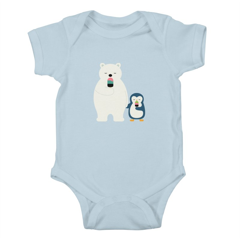 Stay Cool Kids Baby Bodysuit by andywestface's Artist Shop