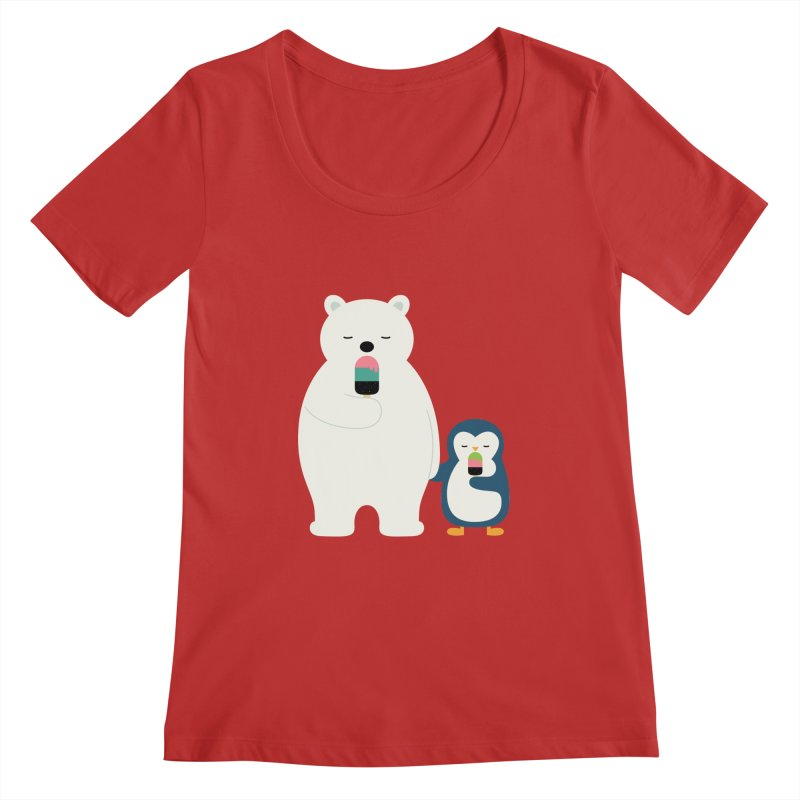 Stay Cool Women's Scoopneck by andywestface's Artist Shop