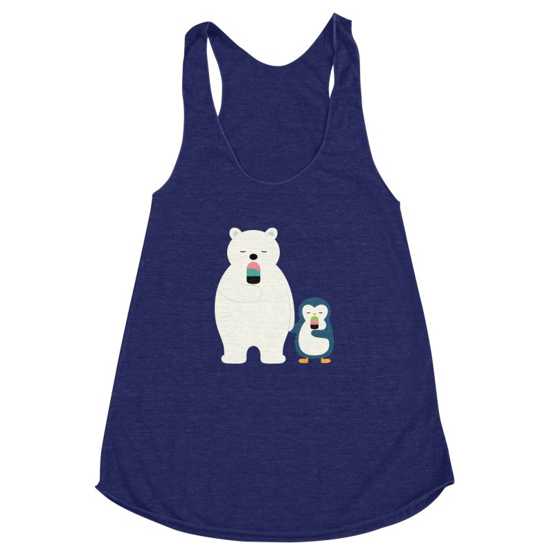 Stay Cool Women's Racerback Triblend Tank by andywestface's Artist Shop