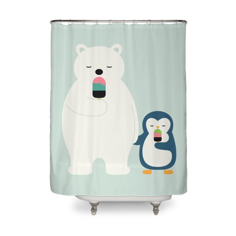Stay Cool Home Shower Curtain by andywestface's Artist Shop