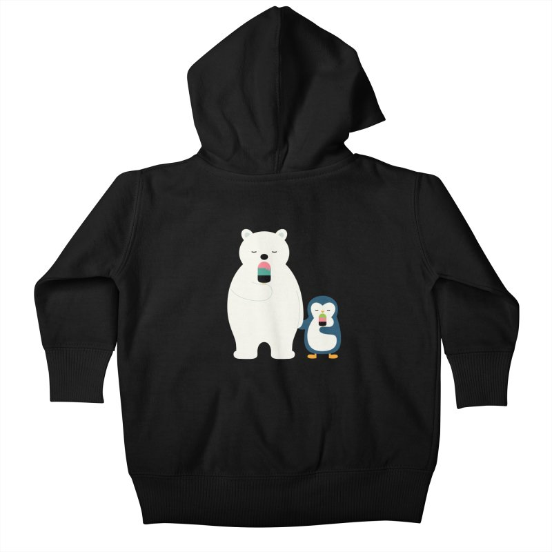 Stay Cool Kids Baby Zip-Up Hoody by andywestface's Artist Shop