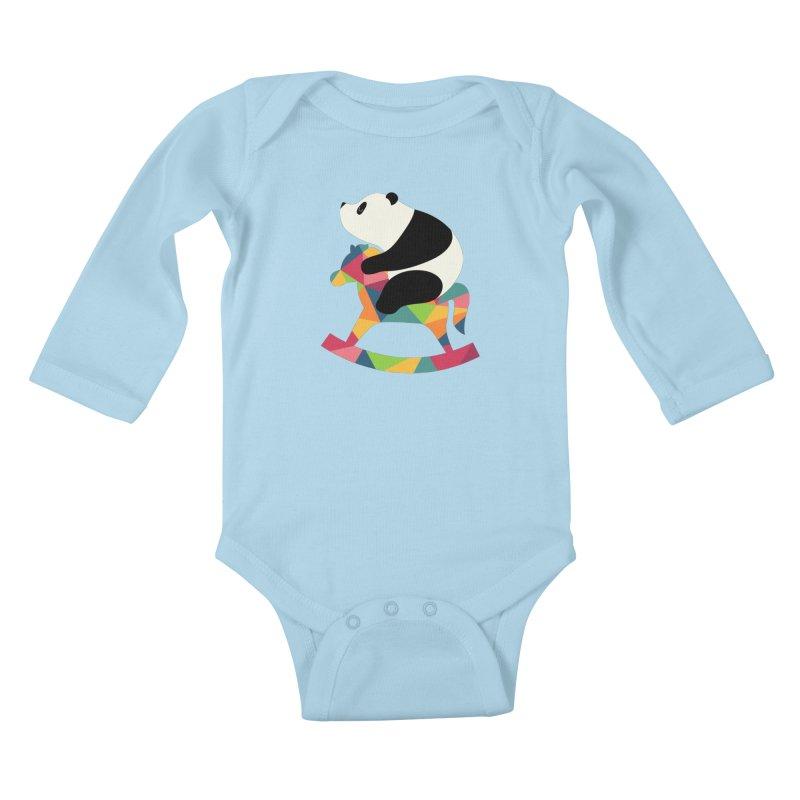 Rock On Kids Baby Longsleeve Bodysuit by andywestface's Artist Shop