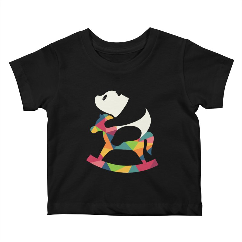 Rock On Kids Baby T-Shirt by andywestface's Artist Shop