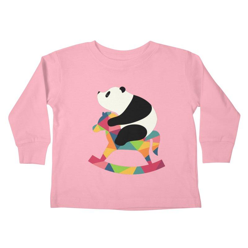 Rock On Kids Toddler Longsleeve T-Shirt by andywestface's Artist Shop