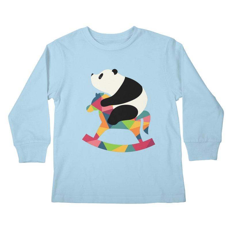 Rock On Kids Longsleeve T-Shirt by andywestface's Artist Shop