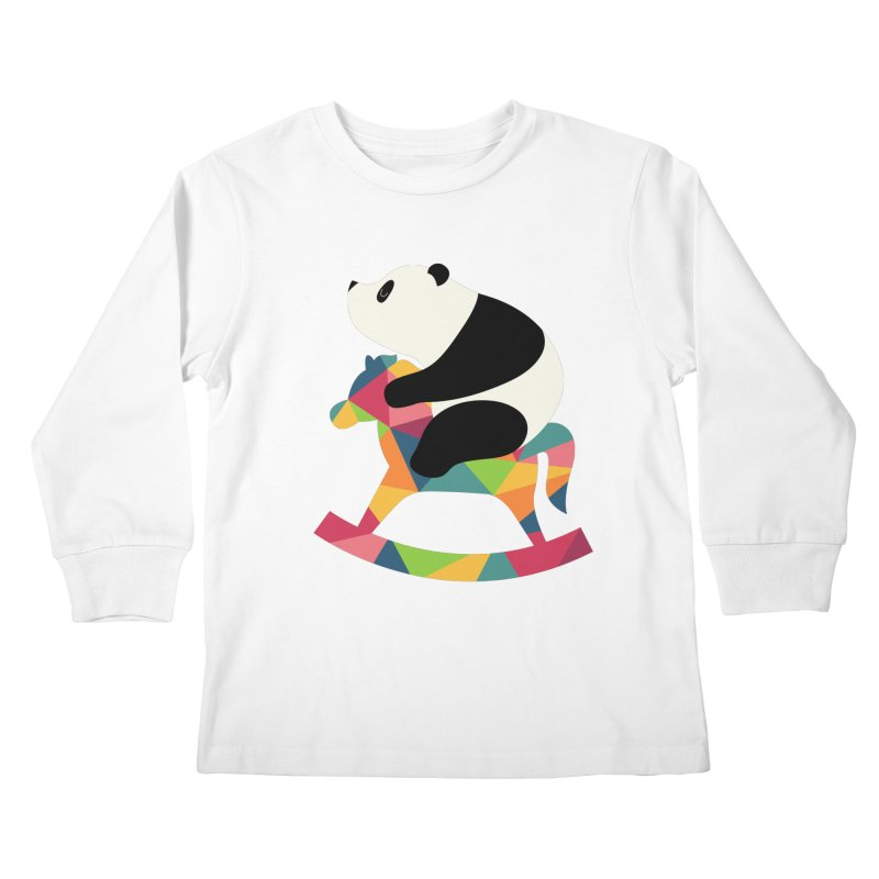Rock On Kids Longsleeve T-Shirt by andywestface's Artist Shop