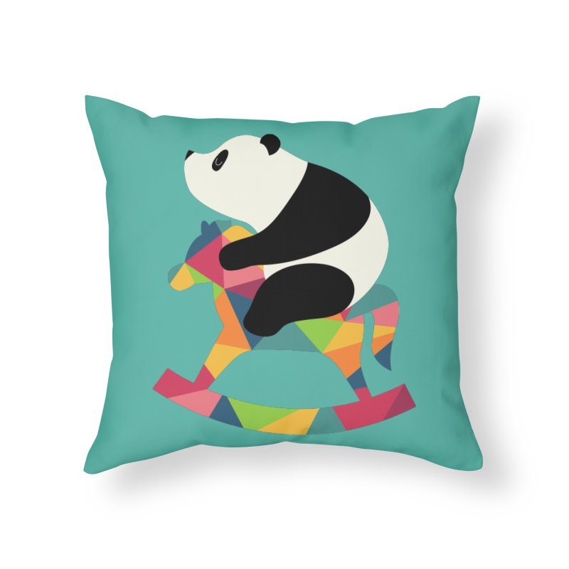 Rock On Home Throw Pillow by andywestface's Artist Shop