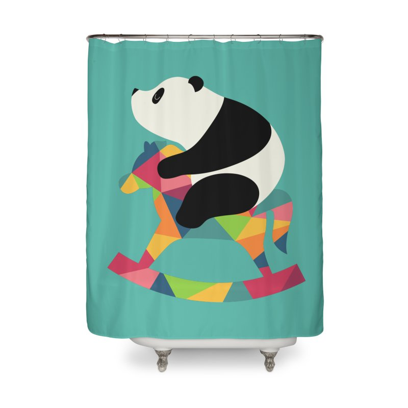 Rock On Home Shower Curtain by andywestface's Artist Shop