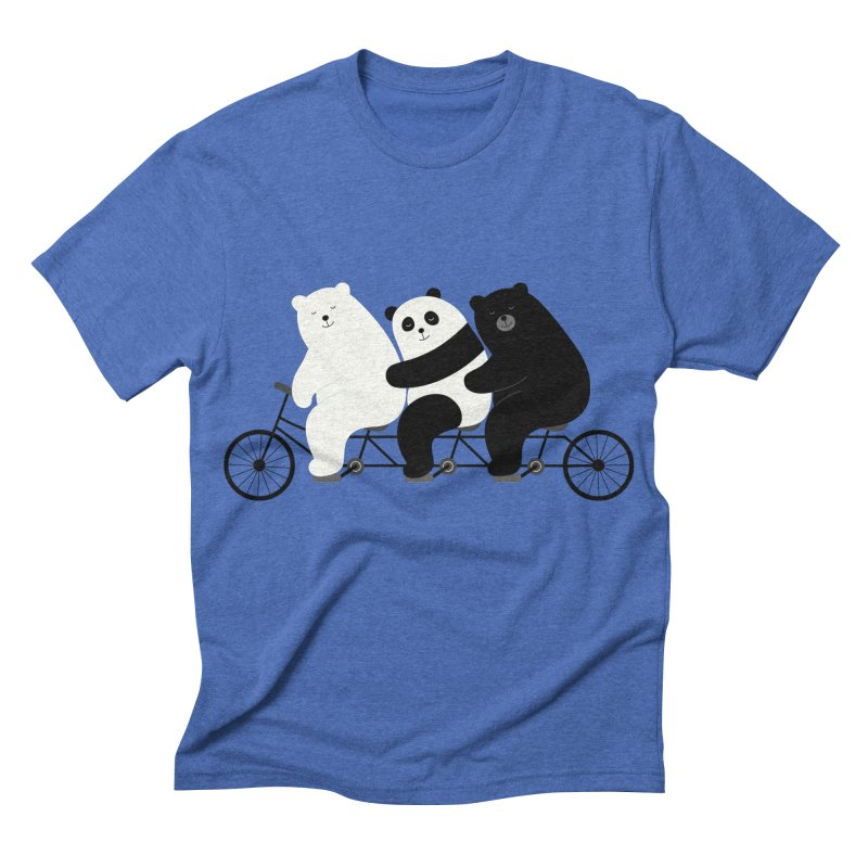 Family Time Men's Triblend T-shirt by andywestface's Artist Shop