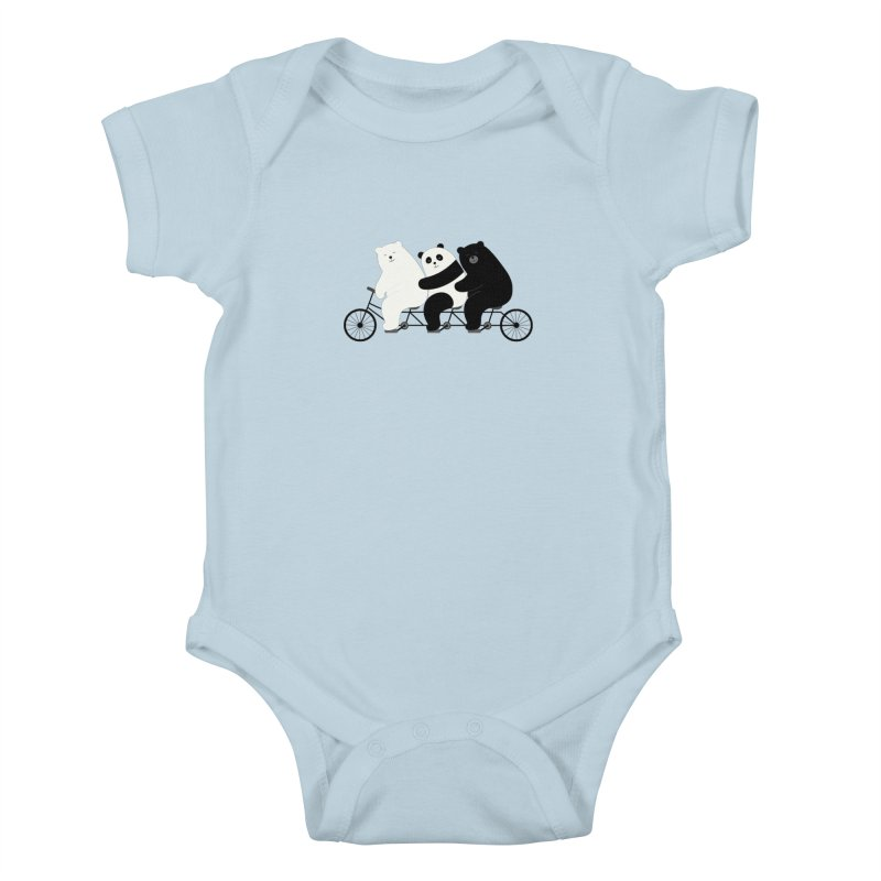 Family Time Kids Baby Bodysuit by andywestface's Artist Shop