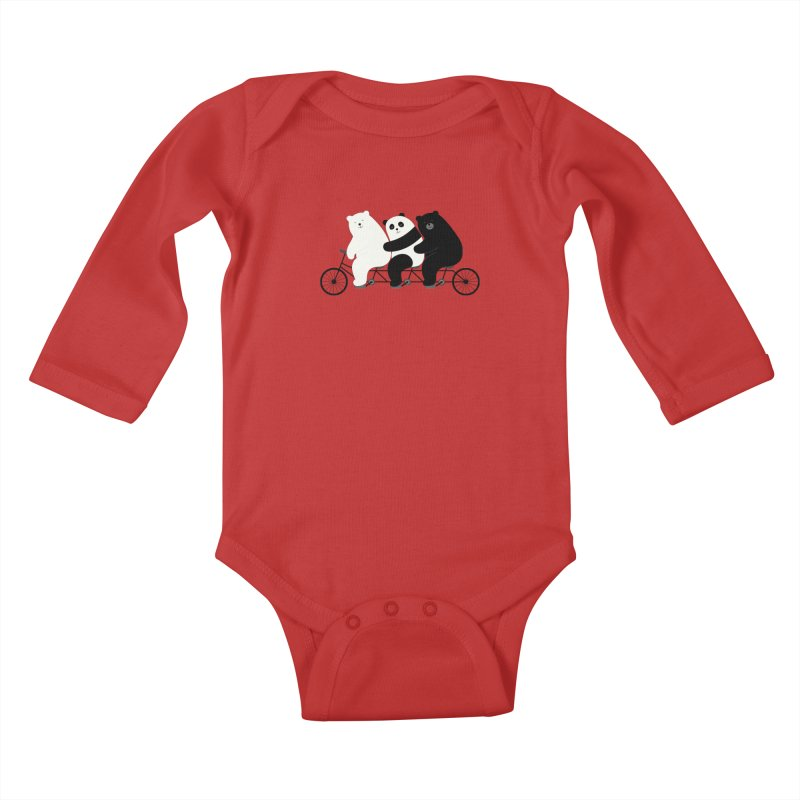 Family Time Kids Baby Longsleeve Bodysuit by andywestface's Artist Shop